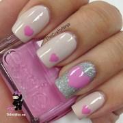 pink heart nails crafty ninja