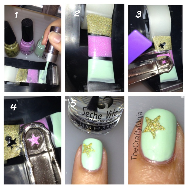 diy star nail sticker