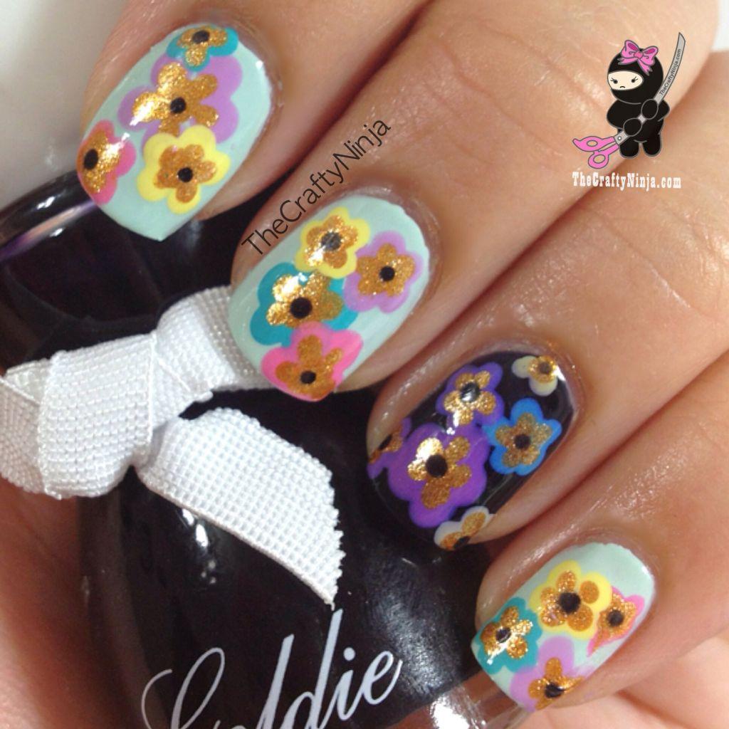 Spring Flower Nails The Crafty Ninja