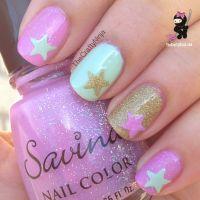 Mint, Pink, Spring Nails | The Crafty Ninja