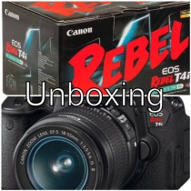 Unboxing Canon T4i