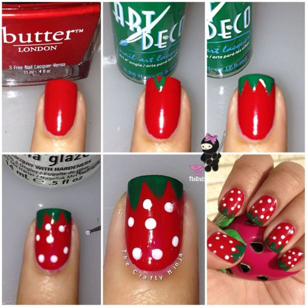 Diy Strawberry Nail