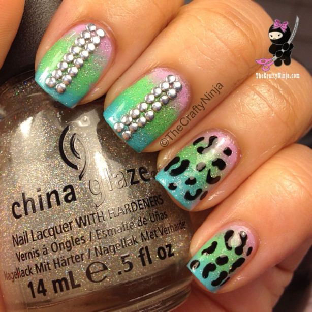 gradient-leopard-nails