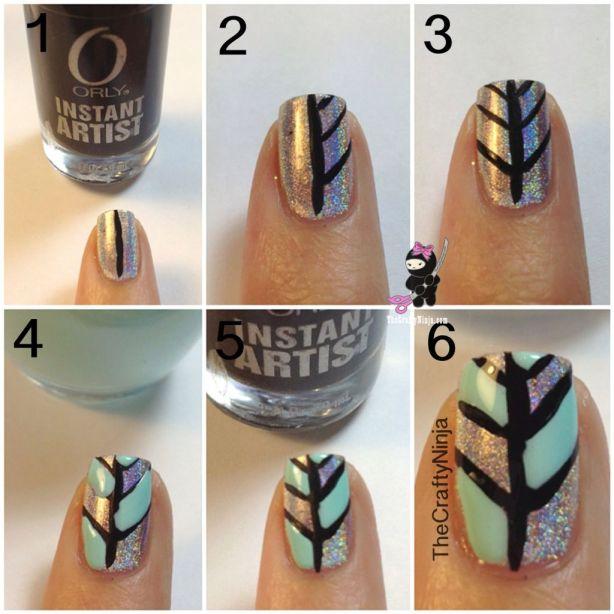 diy pattern design nails