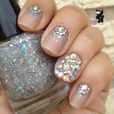 sparkle glitter nails