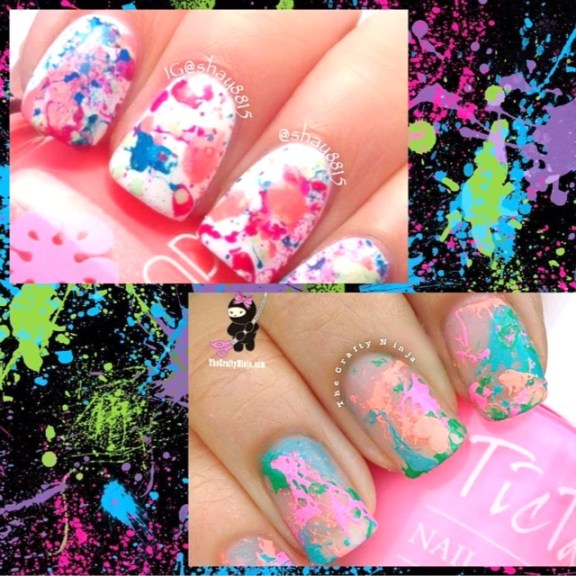 splatter spotted nails