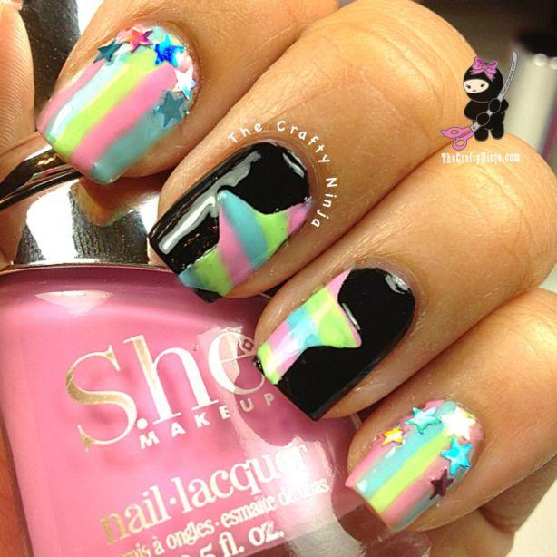 stars stripes nails