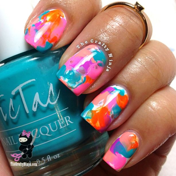 watercolor nails