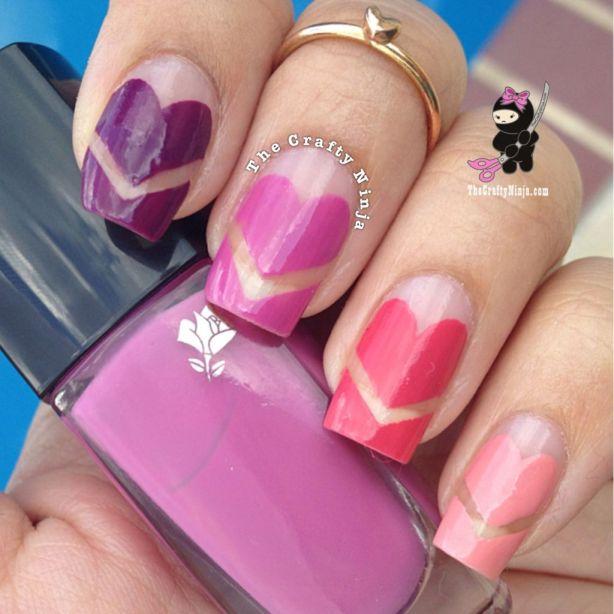 Heart Nails