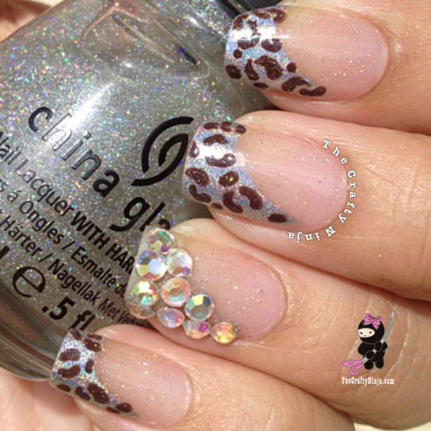 Sparkle Leopard Nails