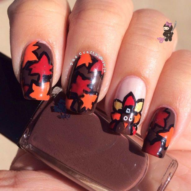 Fall Leaves Nail