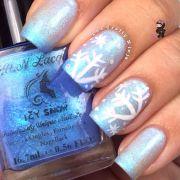 fun lacquer snowflake nails