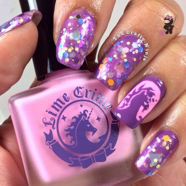 Lime Crime Unicorn Nails