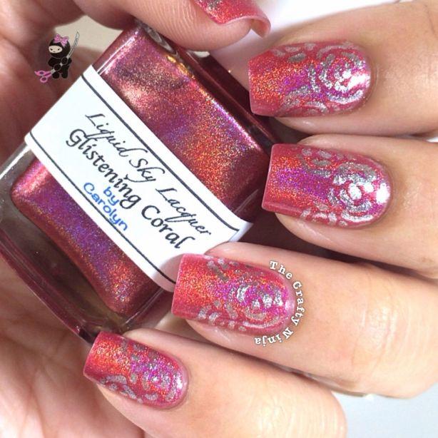 Abstract Rose Nails