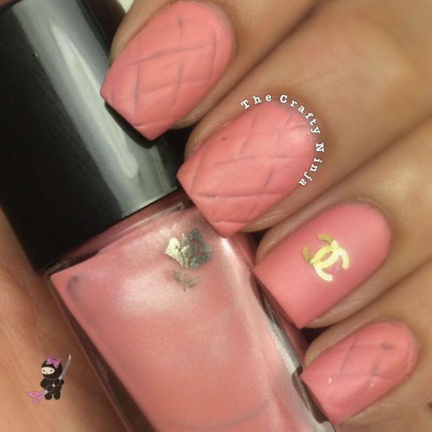 Pink Chanel Nails