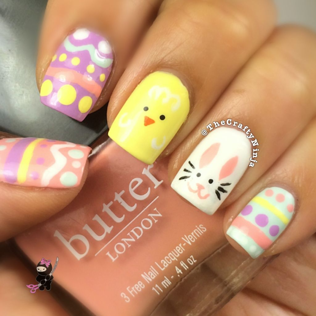 Easter Egg Nail Tutorial | The Crafty Ninja