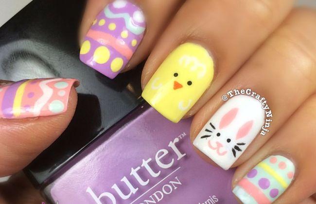 Easter Egg Nail Tutorial The Crafty Ninja