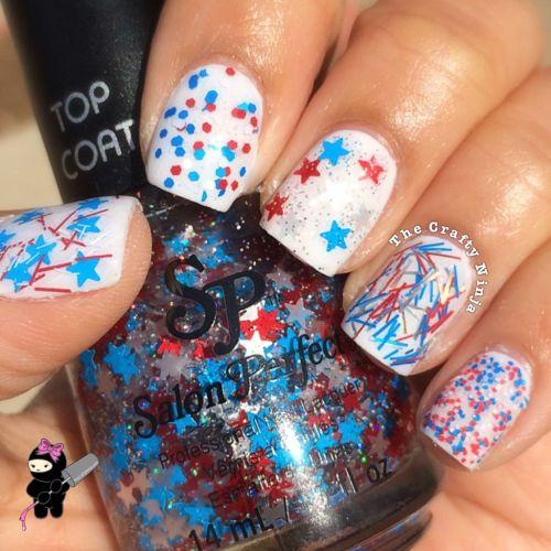 Red White Blue Glitters
