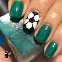 Ball Nails Art Design | soccer ball nail art the crafty ninja