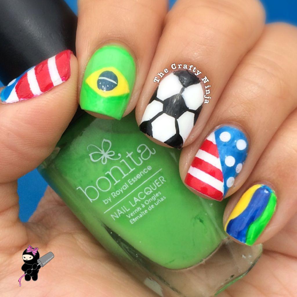 Soccer Nail Art - World Cup Soccer Nails The Crafty Ninja