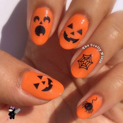 Orange Halloween Nails