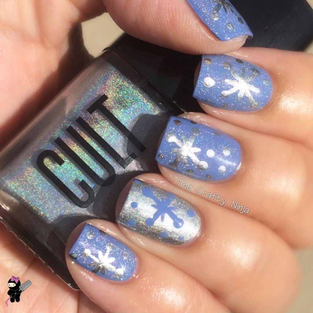 Craftynail: Snowflake Nail Art