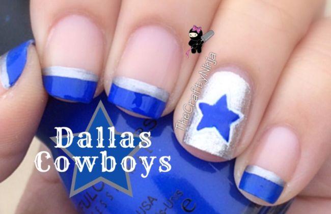 Dallas Cowboys Nail Art Tutorial The Crafty Ninja