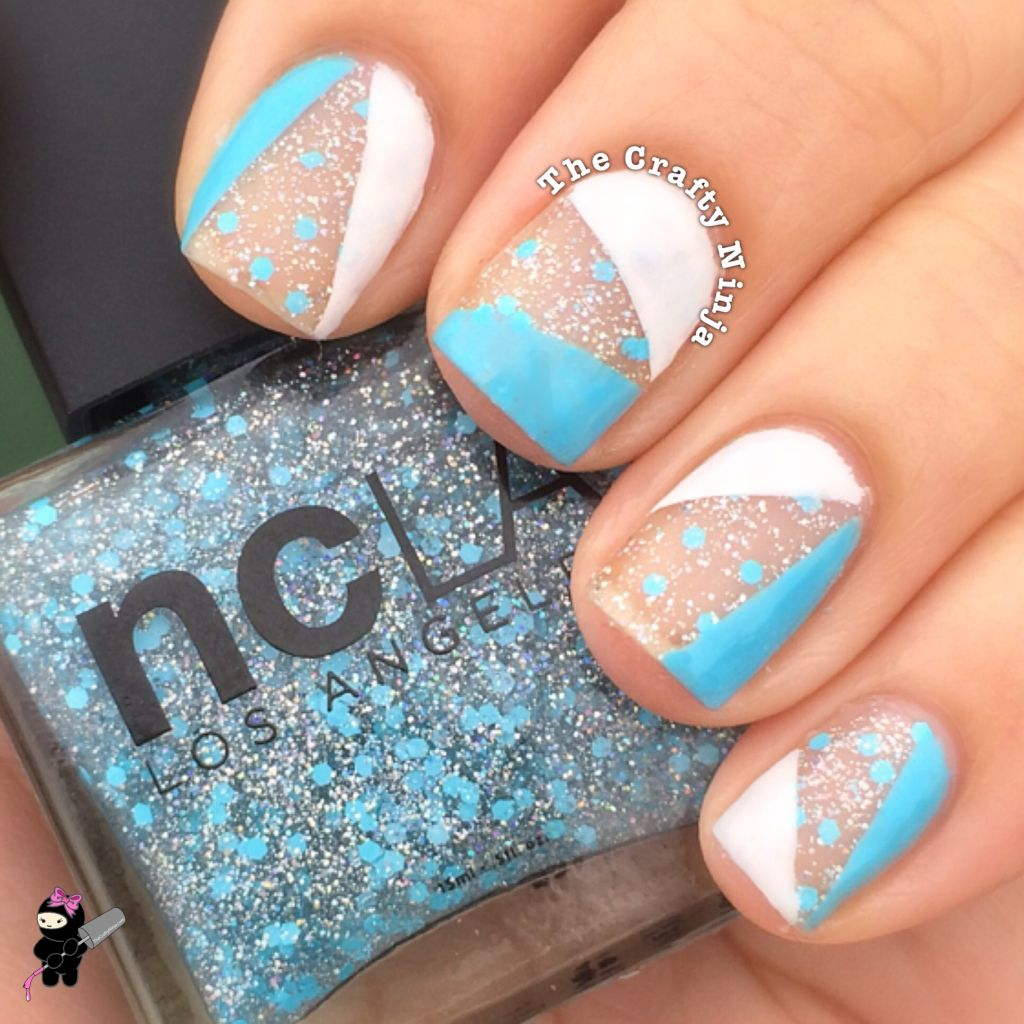 Blue and White Nail Tape | The Crafty Ninja