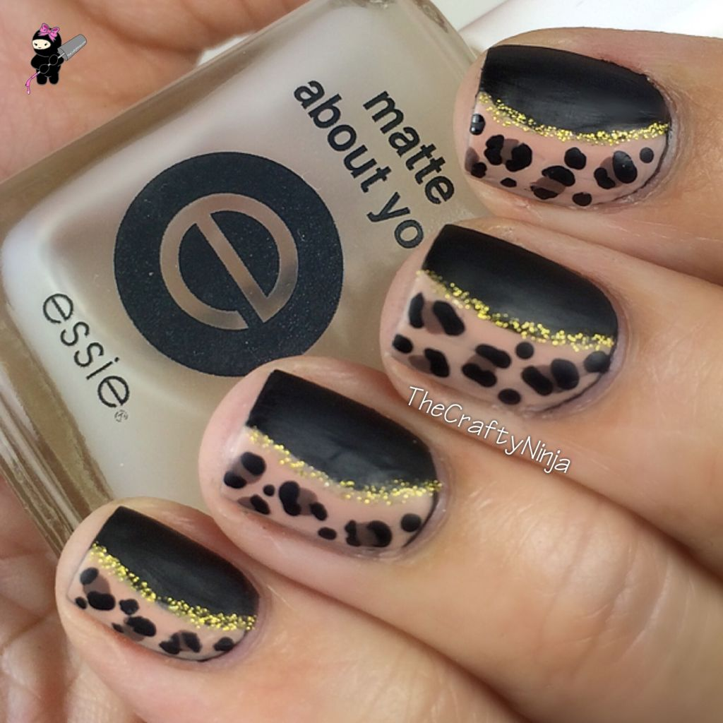 Matte Leopard Nail Art | The Crafty Ninja
