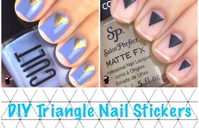 Diy Triangle Nail Art The Crafty Ninja