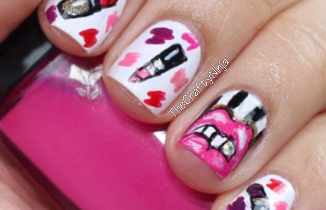 Lipstick Lips Nails