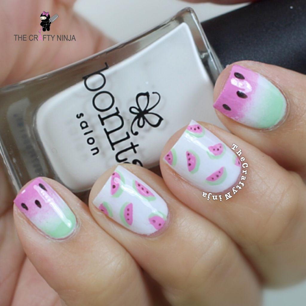 Pastel Watermelon Nails