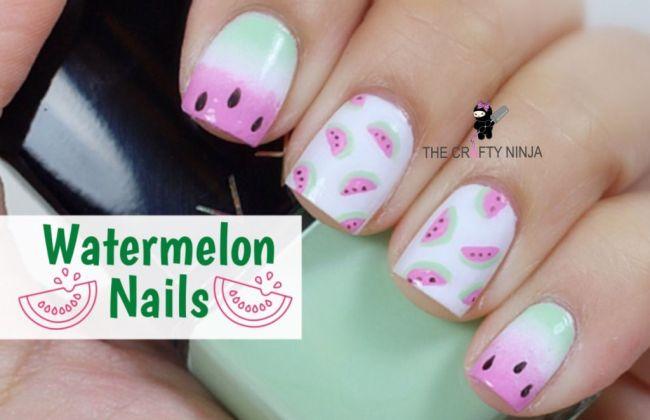 Youtube Watermelon Nails