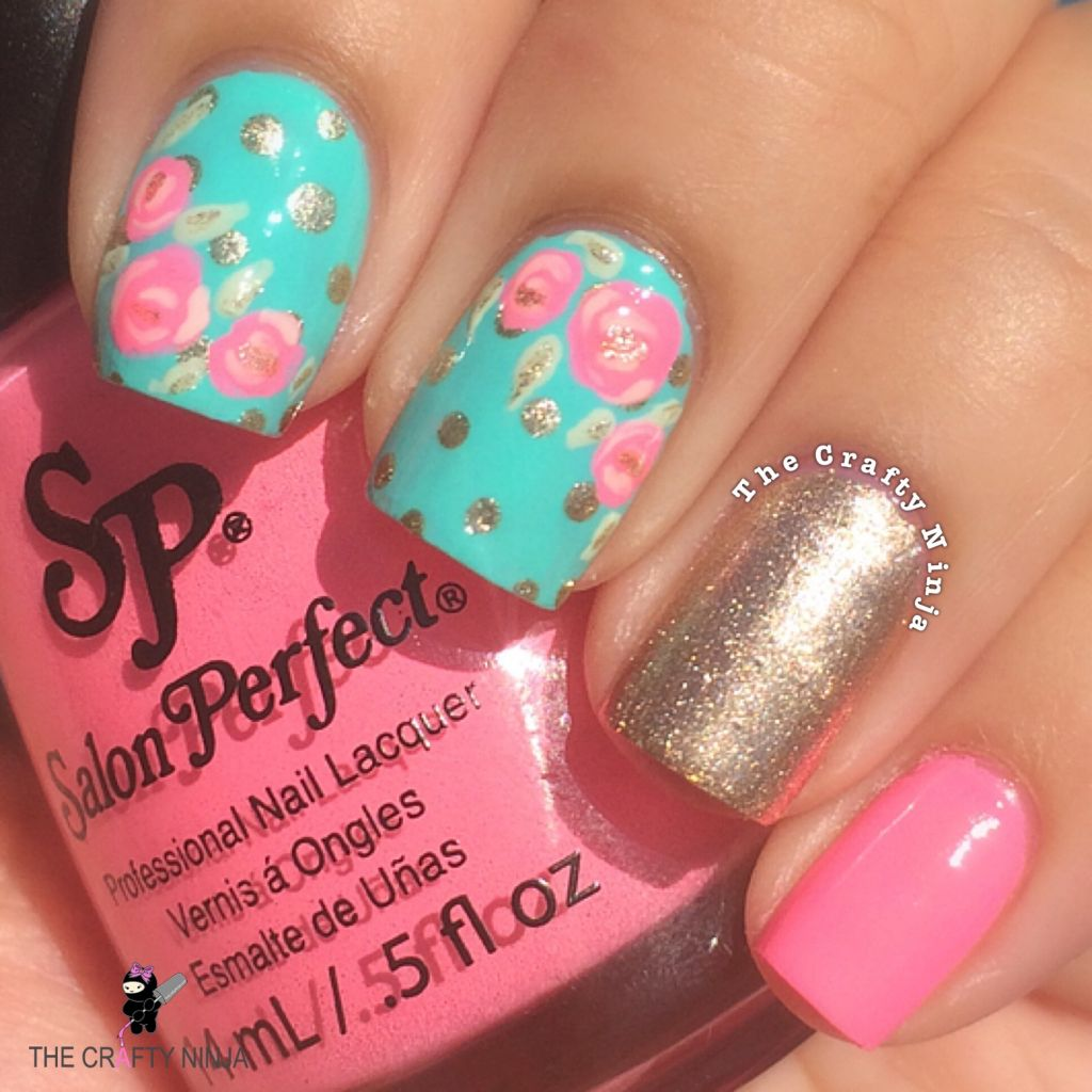 pretty rose nail art crafty
