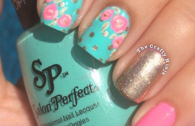 Pretty Rose Nail Art