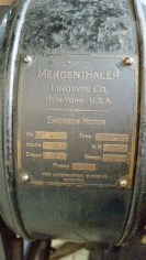 Manufacturer's plate, Linotype