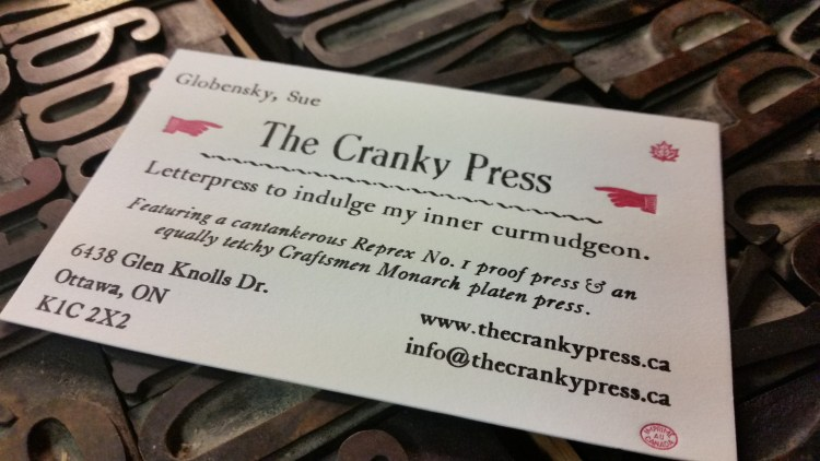 Prop card for The Cranky Press