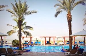 Poolside, Radisson Blu Yas Island, Abu Dhabi.