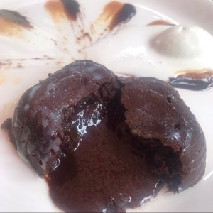 Chocolate Lava Cake at Kettle & Keg, Khar.