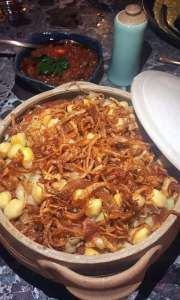 Koshari the national dish of Egypt.