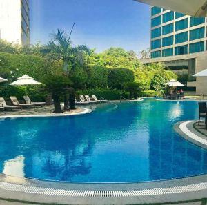 Poolside at Hyatt Regency, Mumbai.