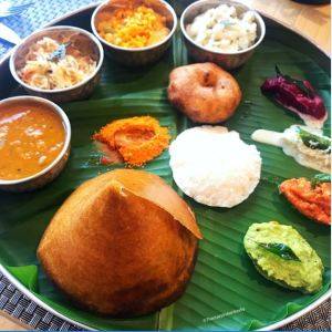 South Indian breakfast at Hebbal Cafe.