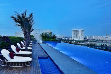 This hotel in Bangalore has a gorgeous rooftop infinity pool and more.