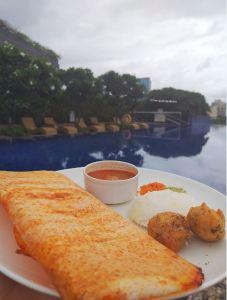 Breakfast by the pool.