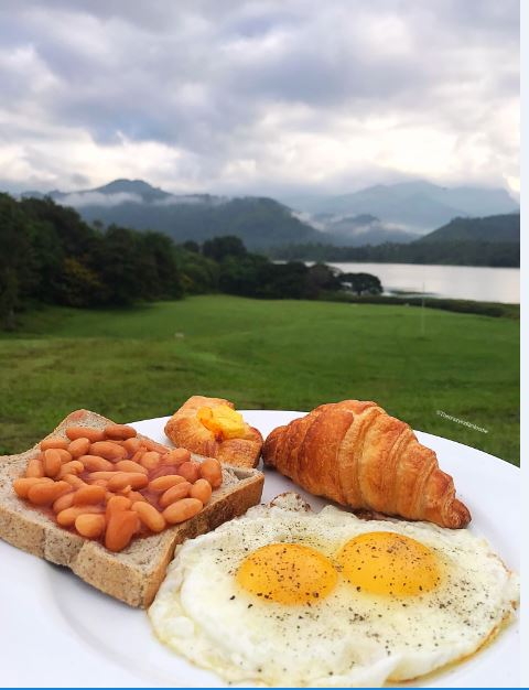 Breakfast with a view at Victoria Golf Resort, Kandy, Sri Lanka.
