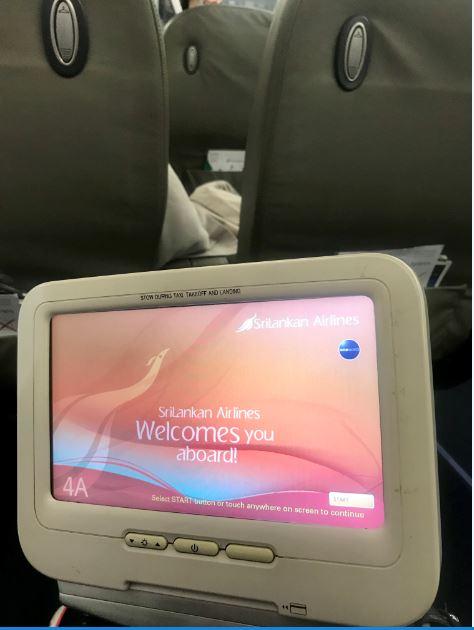 In flight entertainment, Sri Lankan Airlines.