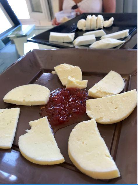 Local cheese of Tinos at San Lorenzo Cheese Factory.