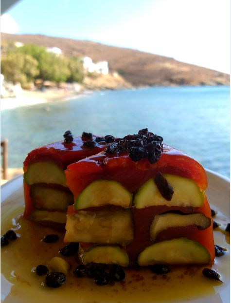 Innovative Salad at Thalassaki, Tinos.