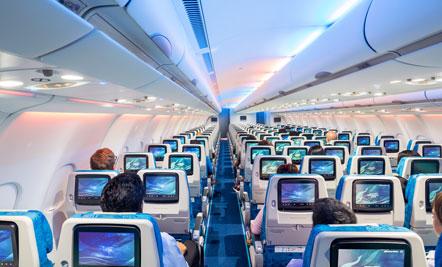 Beautiful Cabin, Sri Lankan Airlines.