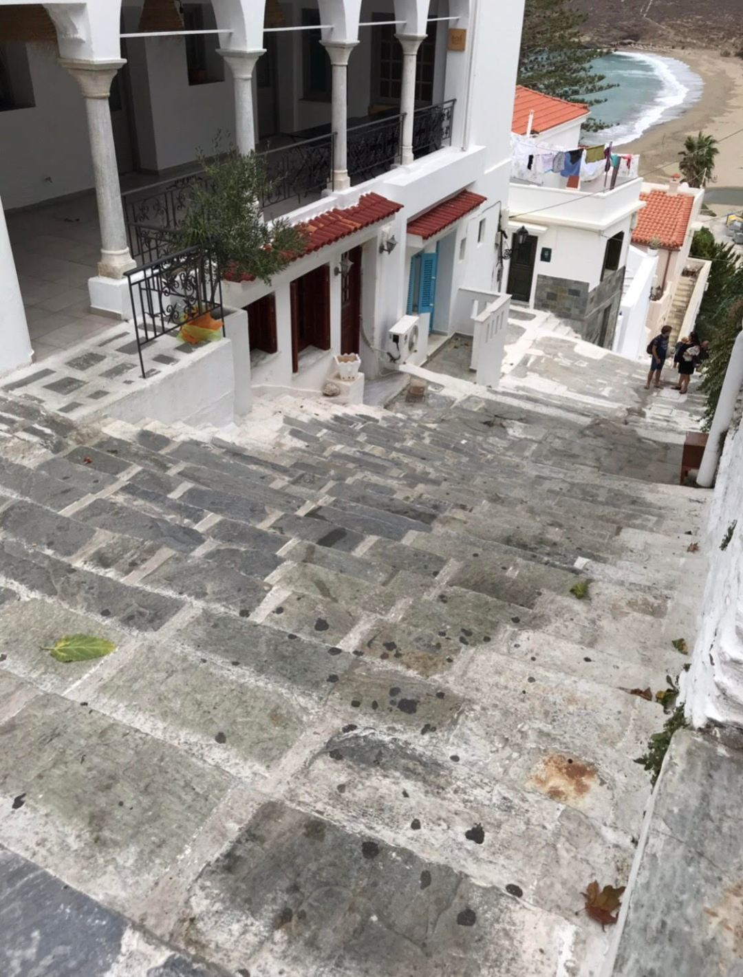 Streets of Chora, Andros, Greece.